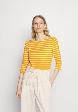 Tommy Hilfiger - AISHA BOAT - Langarmshirt - yellow/white