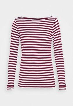 Esprit - STRIPE LONGSLEEVE - Langarmshirt - bordeaux red