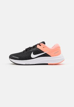 Nike Performance - AIR ZOOM STRUCTURE 23 - Stabilty running shoes - black/white/crimson pulse/iron grey