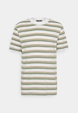Only & Sons - ONSALAN LIFE MOCK NECK TEE - T-Shirt print - star white
