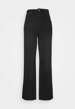 NA-KD - HIGH WAIST RAW - Straight leg -farkut - washed black