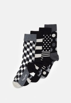 Happy Socks - CLASSIC GIFT SET 4 PACK - Socken - black/white