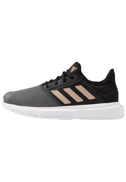 adidas Performance - GAMECOURT - Tennisschoenen voor alle ondergronden - core black/copper metallic/footwear white