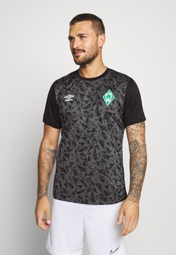 Umbro - WERDER BREMEN WARM UP - Funktionsshirt - black/carbon
