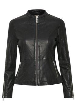 InWear - Veste en cuir - black