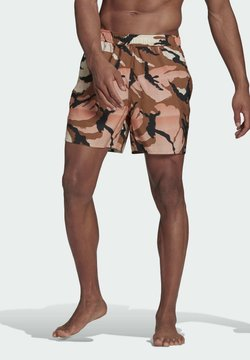 adidas Performance - SHORT-LENGTH GRAPHIC SWIM SHORTS - Szorty kąpielowe - brown