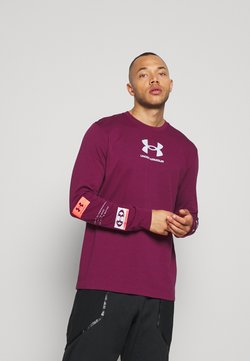 Under Armour - MULTI LOGO - Long sleeved top - royal magenta