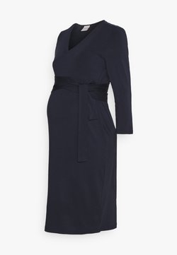 Boob - GISELLE WRAP DRESS - Vestido ligero - midnight blue