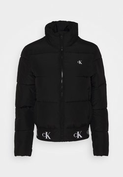 Calvin Klein Jeans - REPEATED LOGO PUFFER - Winterjacke - black