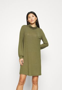 GAP - TURTLENECK DRESS - Neulemekko - new army green