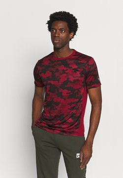 Puma - RUN GRAPHIC TEE - T-Shirt print - intense red/black