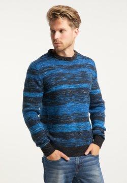 Petrol Industries - Stickad tröja - blue, black