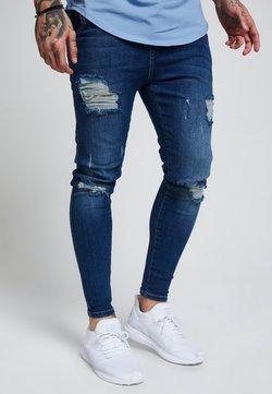 SIKSILK - SIKSILK SKINNY DISTRESSED - Jeans Skinny Fit - blue