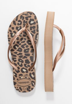 Havaianas - SLIM FIT FLATFORM ANIMALS - Tongs - steel grey