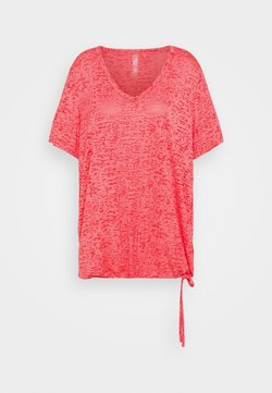 ONLY Play - ONPALIDA REGULAR BURN OUT TEE - Printtipaita - coral