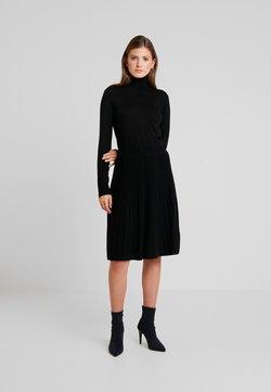Calvin Klein - SUPERFINE FLARE DRESS - Neulemekko - black