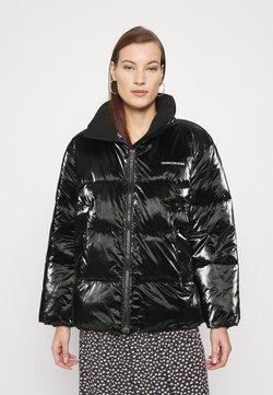Calvin Klein Jeans - HIGH SHINE PUFFER - Winterjacke - ck black