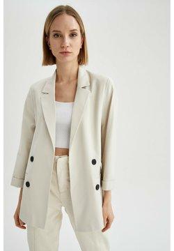 DeFacto - Krótki płaszcz - ecru