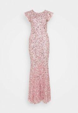 Maya Deluxe - ALL OVER EMBELLISHED FLUTTER SLEEVE MAXI DRESS - Festklänning - pink