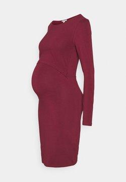 Anna Field MAMA - NURSING FUNCTION dress - Vestido ligero - dark red