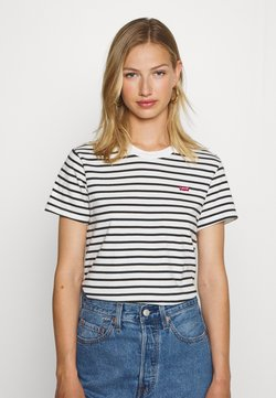 Levi's® - PERFECT TEE - T-Shirt print - benitoite/cloud dancer