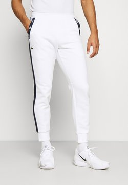 Lacoste Sport - PANT TAPERED - Jogginghose - white/navy blue