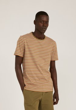 ARMEDANGELS - T-Shirt print - olive/orange