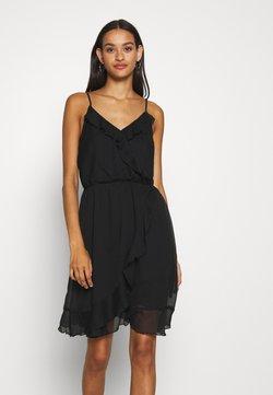 Vero Moda - VMWONDA FRILL SINGLET SHORT DRESS  - Freizeitkleid - black