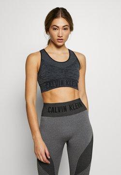 Calvin Klein Performance - MEDIUM SUPPORT SPORTS BRA - Sport BH - black