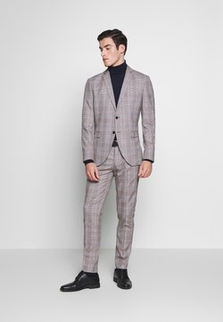 Selected Homme - SLHSLIM MYLOKIPA CHECK SUIT - Suit - brownie/blue