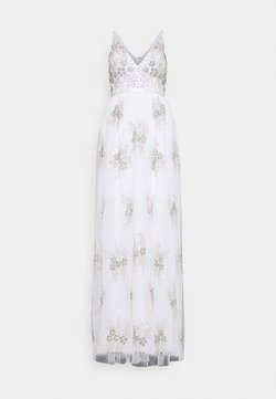 Maya Deluxe - EMBELLISHED BOW BACK DRESS - Vestido de fiesta - white