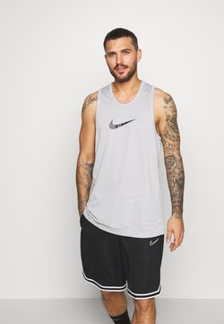Nike Performance - DRY CROSSOVER - Camiseta de deporte - light smoke grey/dark smoke grey