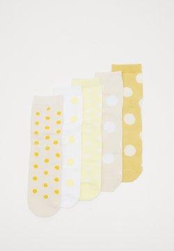 Monki - 5 PACK - Calze - beige/yellow/white