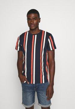 Jack & Jones - JORJERRY TEE CREW NECK  - T-Shirt print - navy blazer