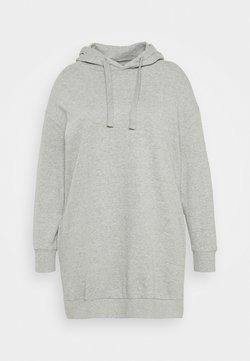 Simply Be - HOODED DRESS - Freizeitkleid - grey marl