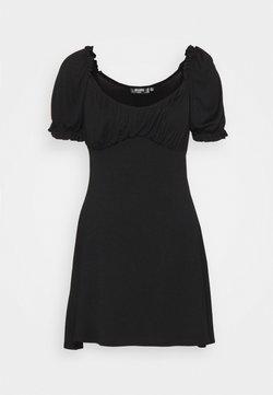 Missguided Petite - MILKMAID SKATER DRESS - Jerseykleid - black