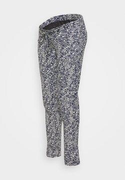 MAMALICIOUS - MLDITTE PANTS - Pantalones deportivos - navy blazer/white