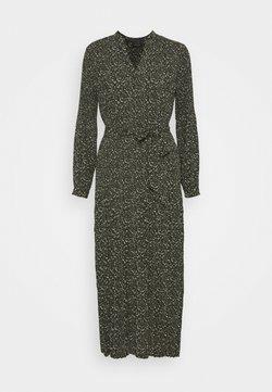 Selected Femme - SLFMETHA POPPY LONG DRESS  - Maxi dress - winter moss