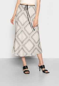 CMEO COLLECTIVE - SEEK SKIRT - A-Linien-Rock - champagne scarf