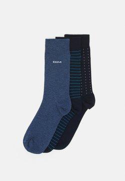 DIM - RAYURES ET POIS 3 PACK - Socken - navy blue/jean