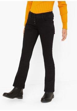 s.Oliver - Bootcut jeans - black