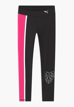 Puma - RUNTRAIN - Collants - puma black/luminous pink