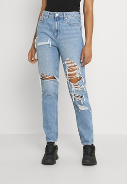 American Eagle - MOM - Slim fit jeans - worn out blue
