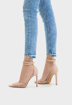 Bershka - MIT NETZSTOFF 11950560 - High Heel Pumps - pink