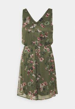Vero Moda - VMWONDA NEW SINGLET SHORT DRESS - Robe d'été - kalamata/liva
