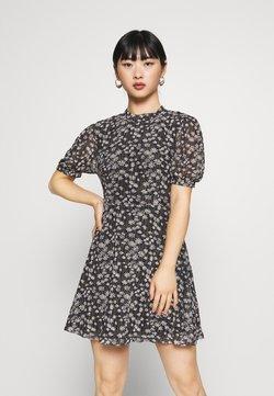 Glamorous Petite - EXCLUSIVE PRINTED PUFF SLEEVE - Day dress - black