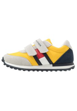 Tommy Hilfiger - Sneakers laag - grey/yellow