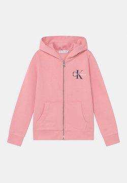 Calvin Klein Jeans - MONOGRAM ZIP THROUGH HOODIE UNISEX - veste en sweat zippée - soft berry