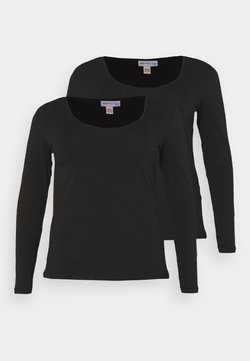 Anna Field Curvy - 2 PACK - Langarmshirt - black