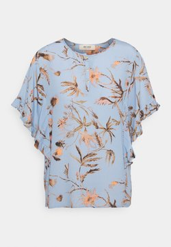 Mos Mosh - TARA THISTLE BLOUSE - T-Shirt print - bel air blue